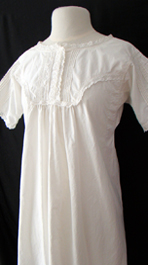 close up 1920's nightdress