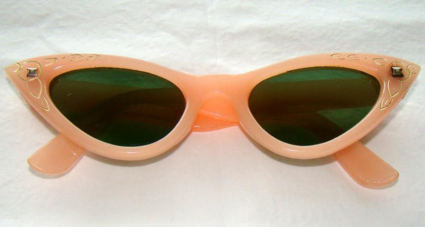Pink Cat Eye Sunglasses Cat Eyes 1950's Sunglasses