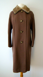 brown 1960's coat
