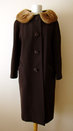 brown vintage 1960's coat
