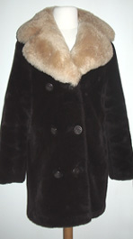 vintage 1960's coat faux fur