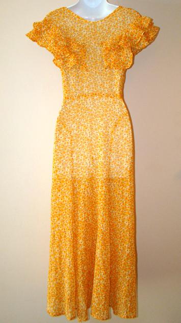 proper vintage clothing vintage dresses floral 1930 s