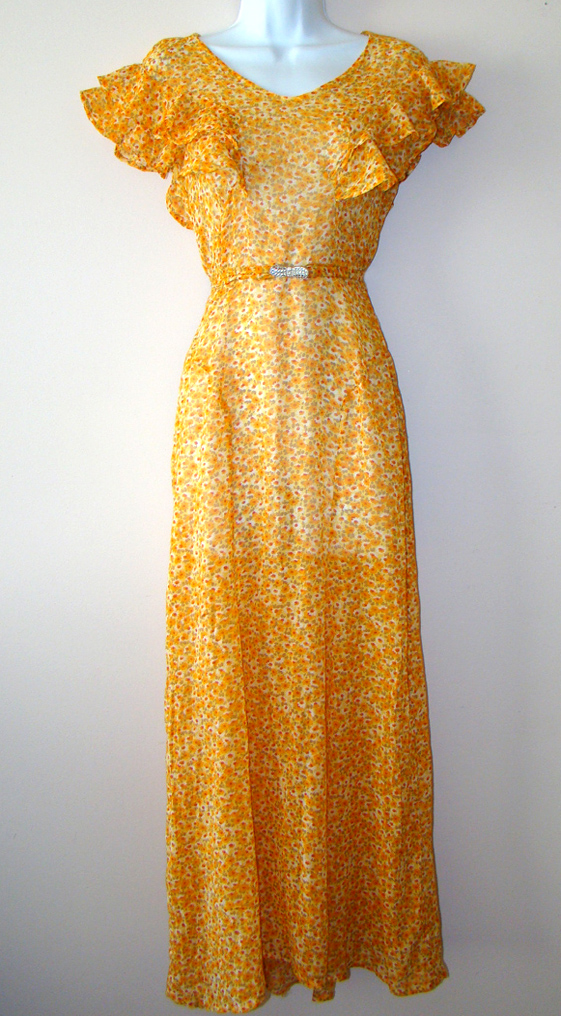 Proper Vintage Clothing, Vintage Dresses - Floral 1930's Vintage Dress