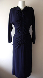 ruched 1940s dress