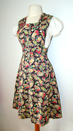 1940's pinafore dress