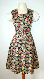 1940s pinafore dress