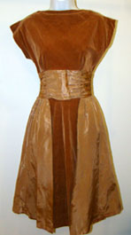 vintage 1950's brown party dress