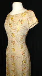 floral embroidered 50's dress