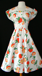 50's novelty print dress