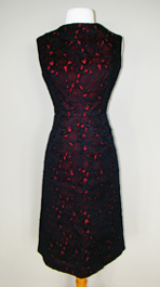 black & red 1960's dress