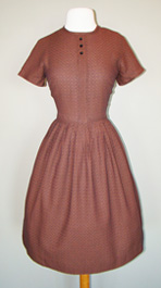 brown 1960's dress