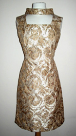 vintage 1960s brocade evening dress
