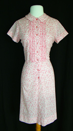 pink 1960's shirtwaist dress