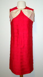 pink 1960's shift dress