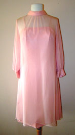 pink two piece 1960's dress