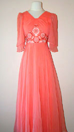 peachy vintage 70's dress