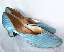 turquoise 1930's shoes