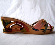 vintage 1940's wooden shoes
