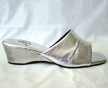 1970s silver mules