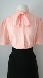 pink 60's blouse
