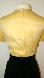 back of 1960's blouse