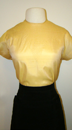 yellow 60's blouse